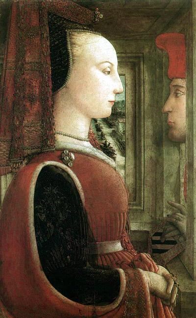 Портрет женщины и мужчины, 1460-е годы.  Музей Метрополитен, Нью-Йорк.