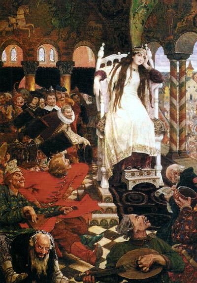 Виктор васнецов царевна несмеяна 1916