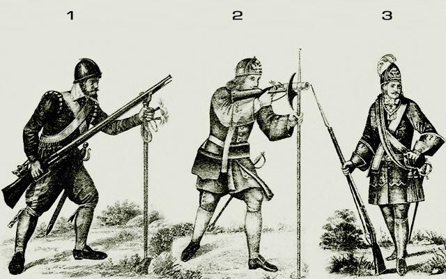 Военная форма русской армии на рубеже XVII-XVIII века